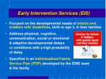 early intervention services eis