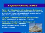 legislative history of idea