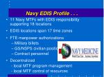 navy edis profile
