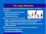 the legal mandate