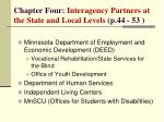 chapter four interagency partners at the state and local levels p 44 53