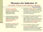 measures for indicator 13 secondary transition noncompliance handout