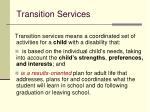 transition services45