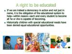 a right to be educated