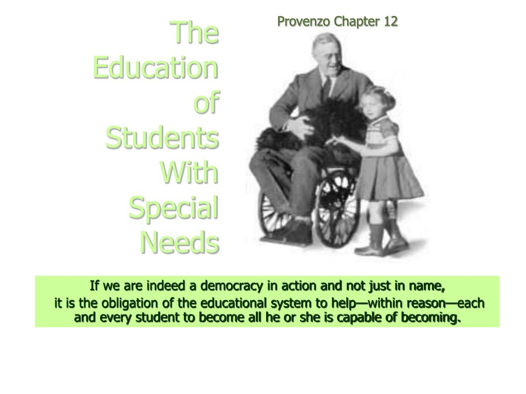 the education of students with special needs l.