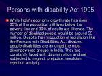 persons with disability act 1995