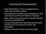 communist government