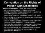 convention on the rights of person with disabilities30