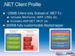 net client profile