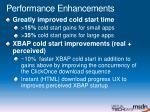 performance enhancements