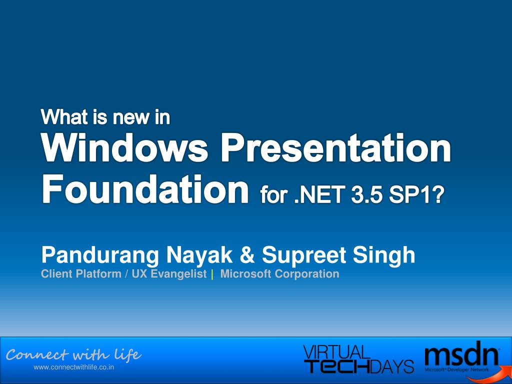what is new in windows presentation foundation for net 3 5 sp1 l.