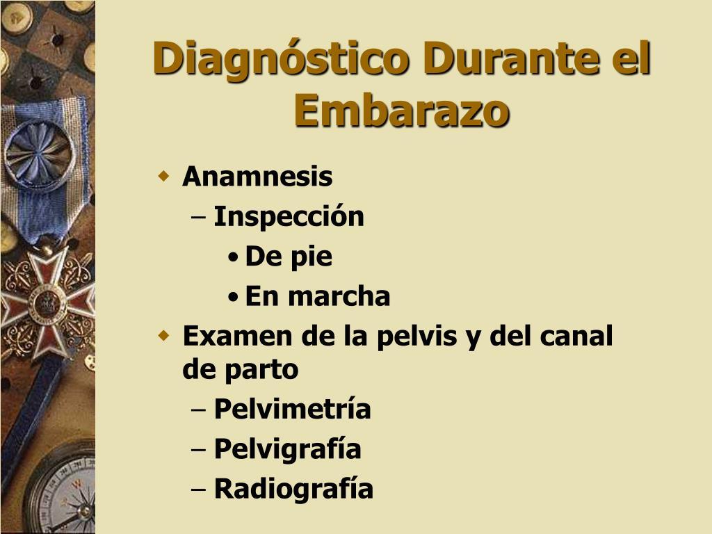 Diagnóstico Durante el Embarazo