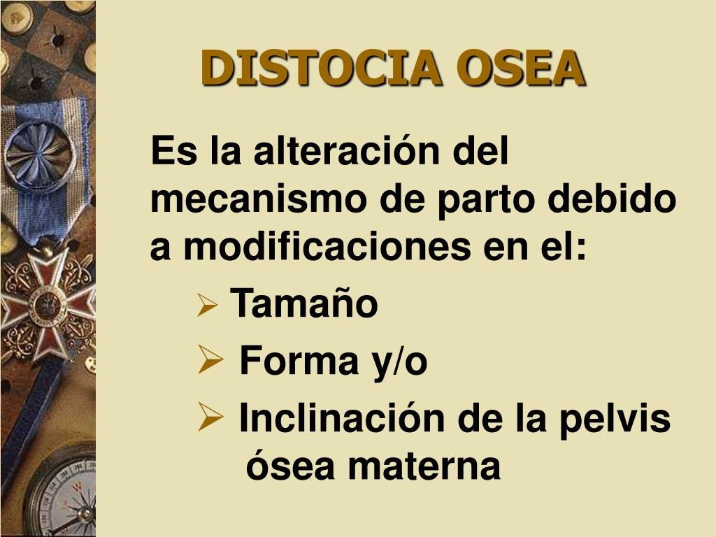 DISTOCIA OSEA
