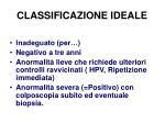 classificazione ideale