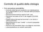 controllo di qualit della citologia