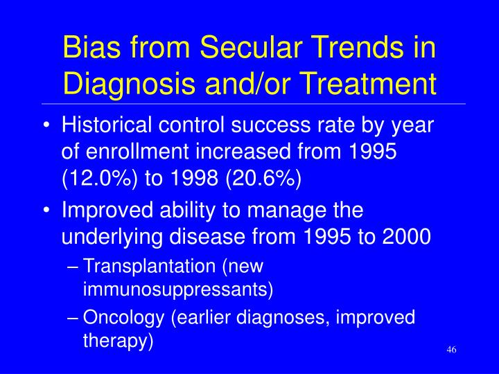 Bias from Secular Trends in Diagnosis and/or Treatment