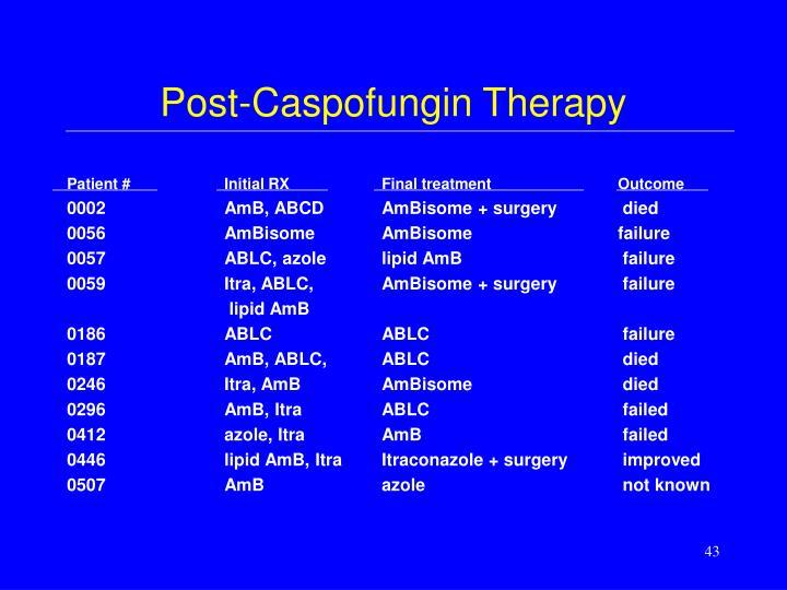 Post-Caspofungin Therapy