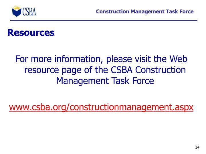Construction Management Task Force