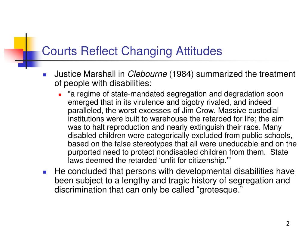 Courts Reflect Changing Attitudes