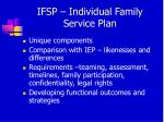 ifsp individual family service plan