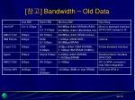 bandwidth old data