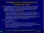 example fusion of home network and entertainment cluster