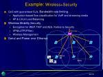 example wireless security