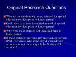 original research questions