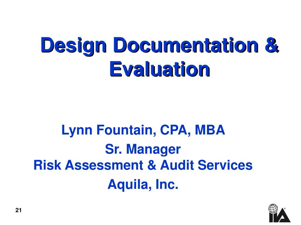 Design Documentation &