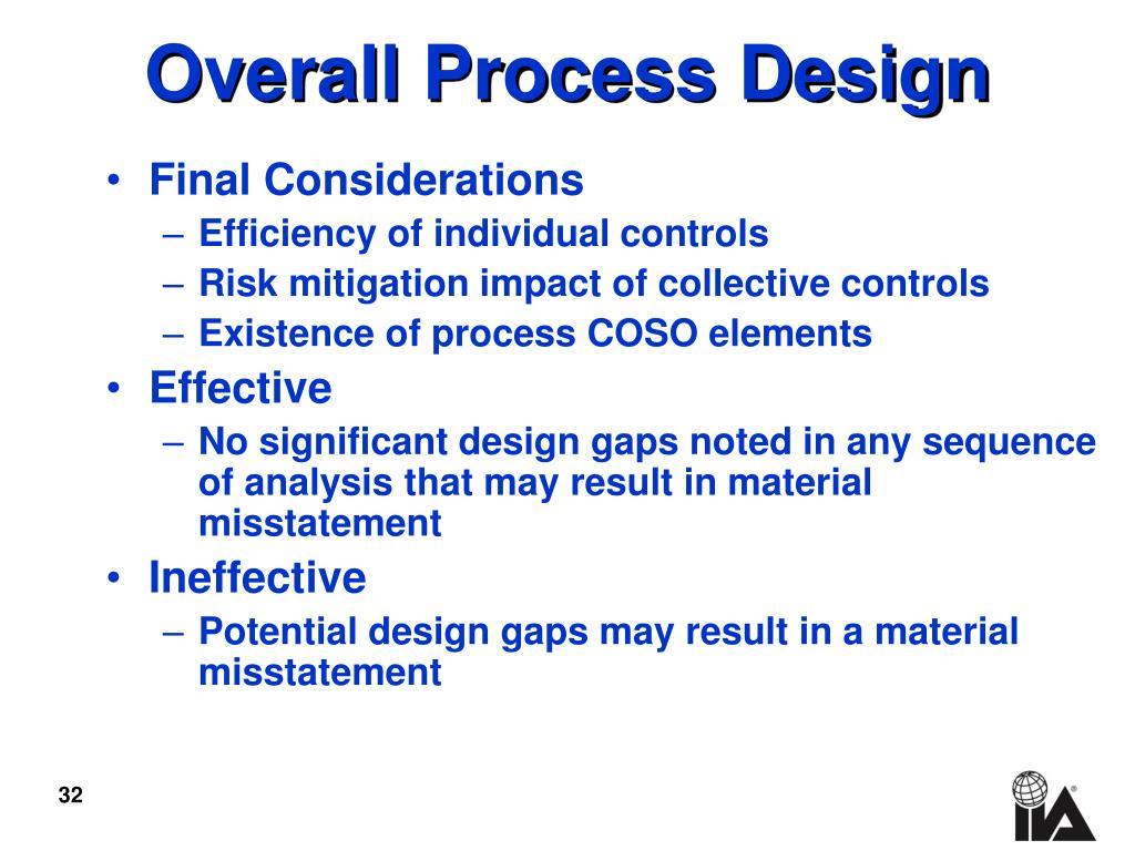 Overall Process Design