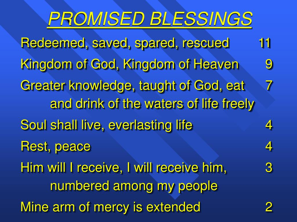 PROMISED BLESSINGS
