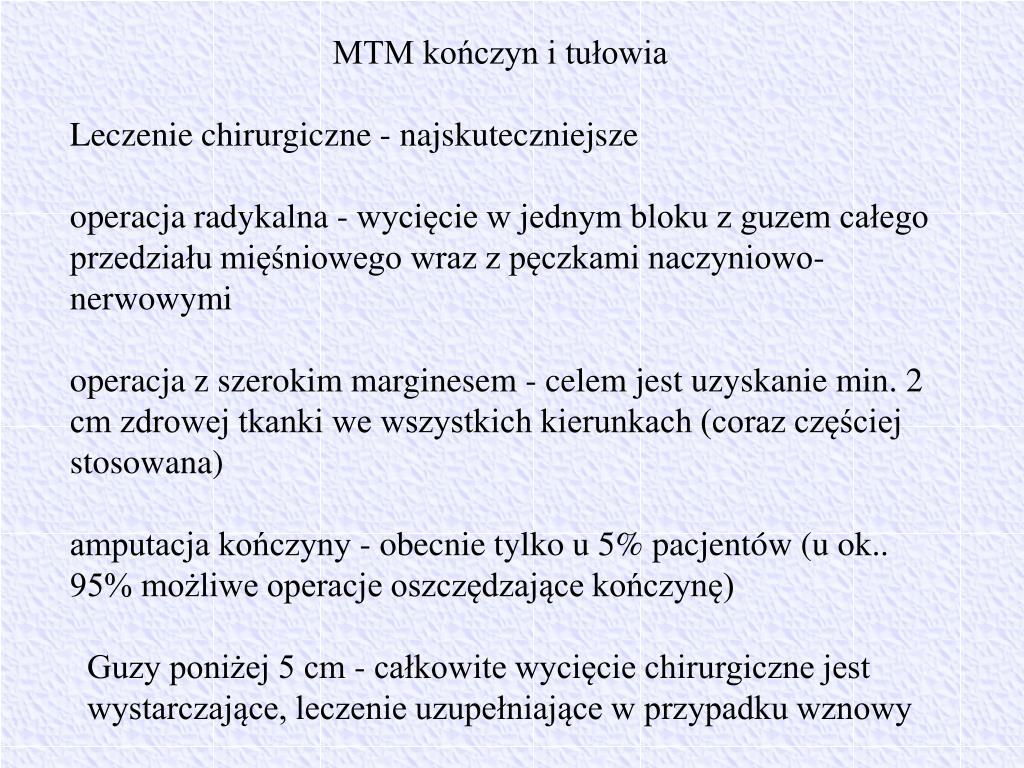 MTM kończyn i tułowia