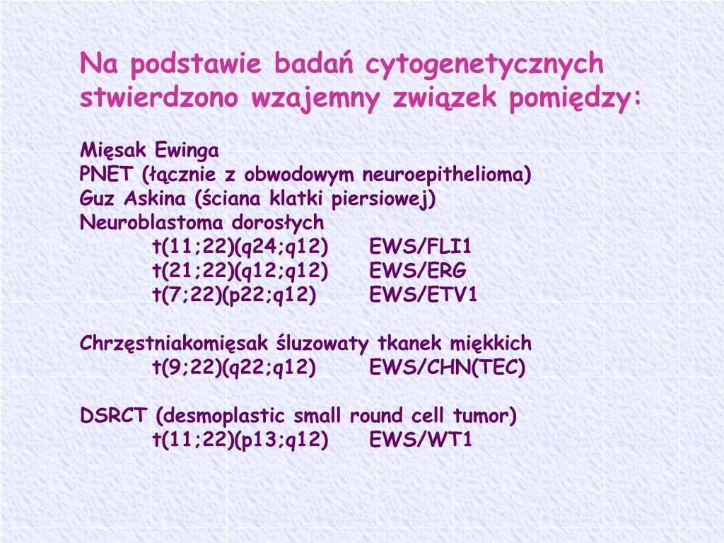 Na podstawie badań cytogenetycznych stwierdzono wzajemny związek pomiędzy: