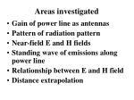 areas investigated