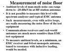 measurement of noise floor