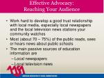 effective advocacy reaching your audience