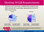 meeting nclb requirements