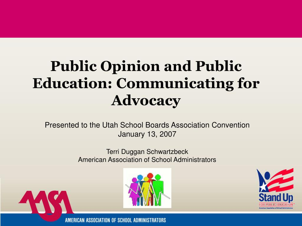 public opinion and public education communicating for advocacy l.