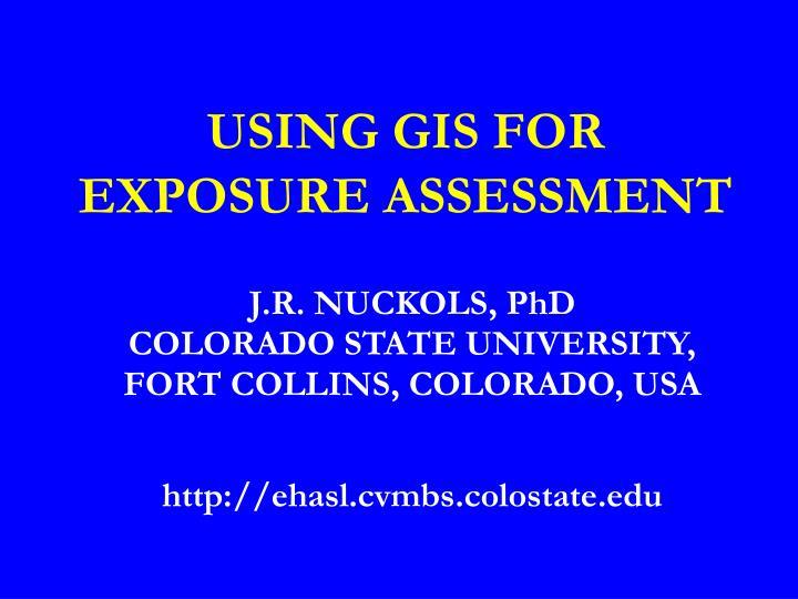 using gis for exposure assessment n.