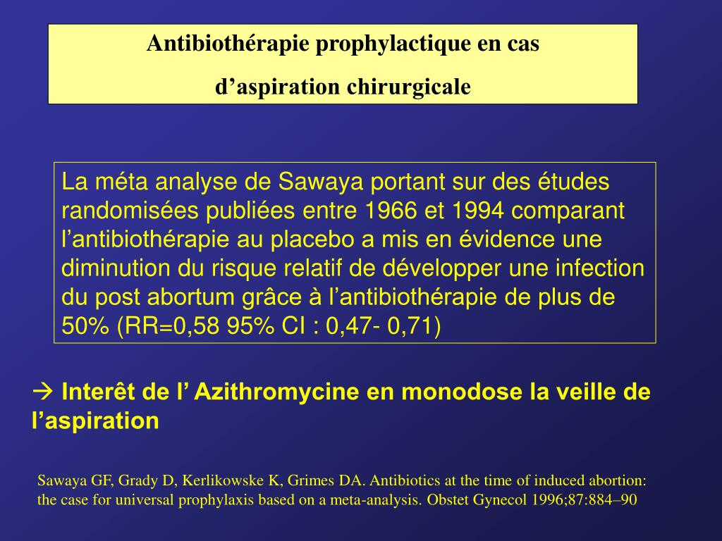 Antibiothérapie prophylactique en cas