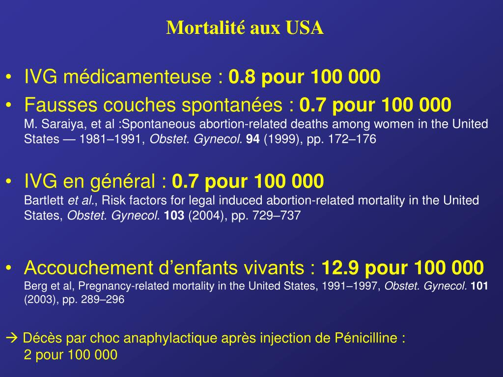 Mortalité aux USA
