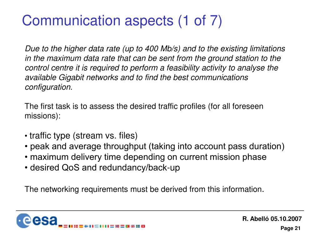 Communication aspects (1 of 7)