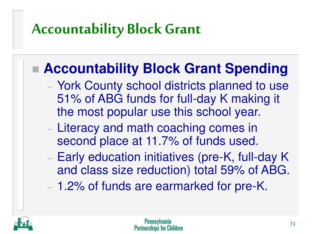 Accountability Block Grant