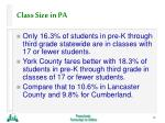 class size in pa