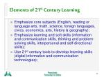 elements of 21 st century learning44