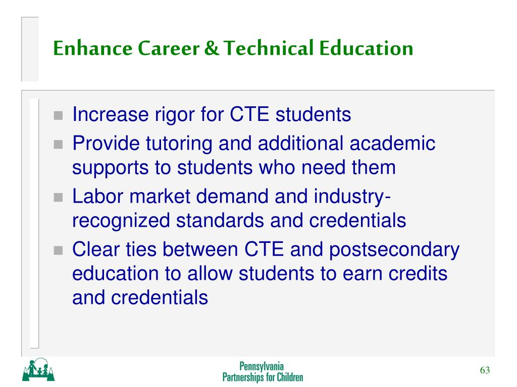 Enhance Career & Technical Education