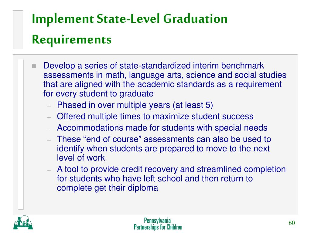 Implement State-Level Graduation Requirements
