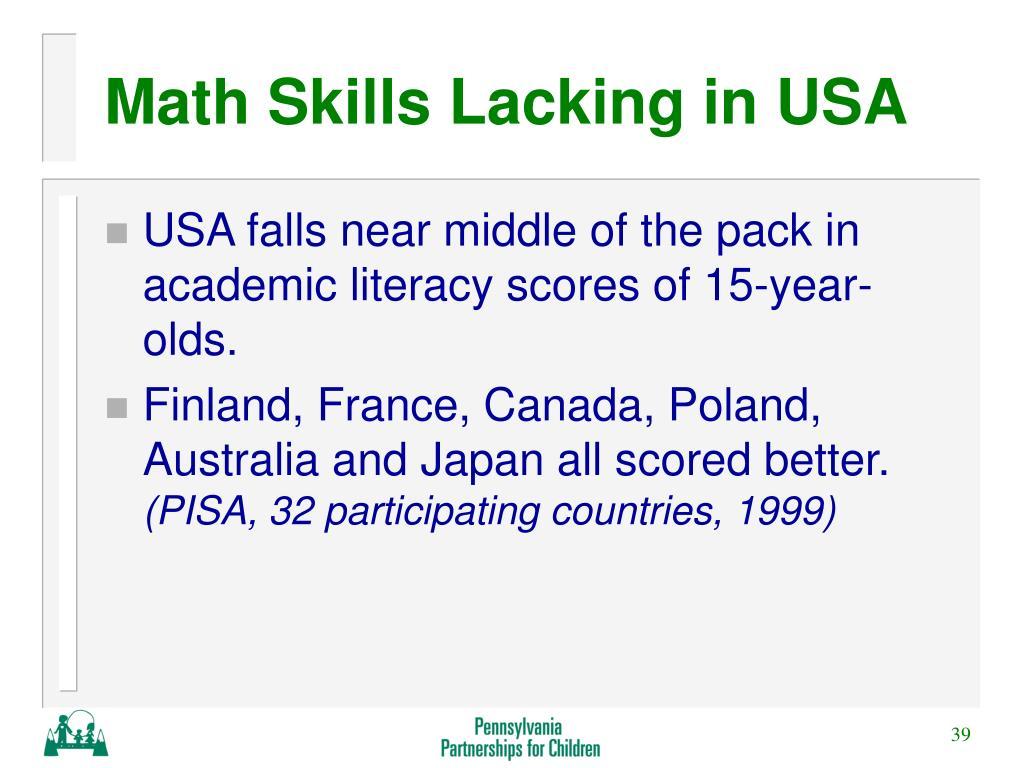Math Skills Lacking in USA