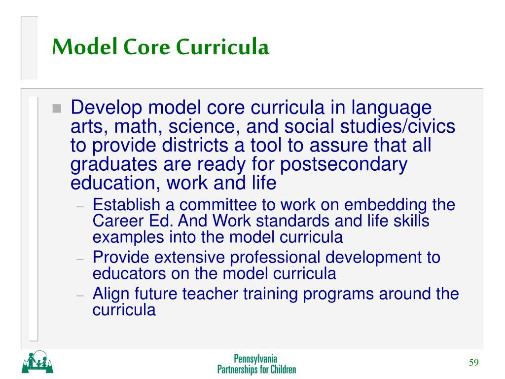 Model Core Curricula