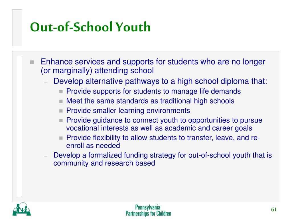 Out-of-School Youth